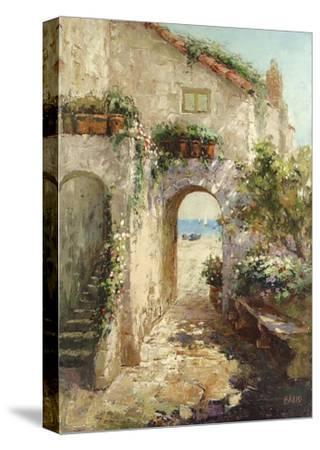 Bernazza Arch- Fabio-Stretched Canvas Print