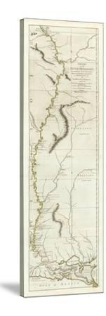 Course of the River Mississipi, from the Balise to Fort Chartres, c.1775-Lieutenant Ross-Stretched Canvas Print