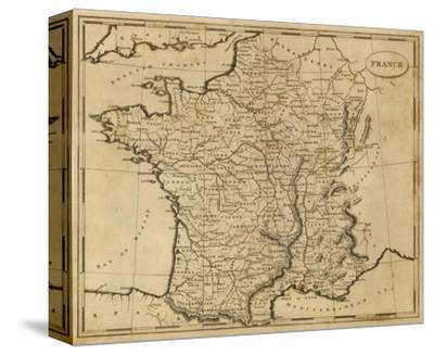 France, c.1812-Aaron Arrowsmith-Stretched Canvas Print