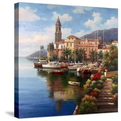 Mediterranean Harbor-Neil Jacobsen-Stretched Canvas Print