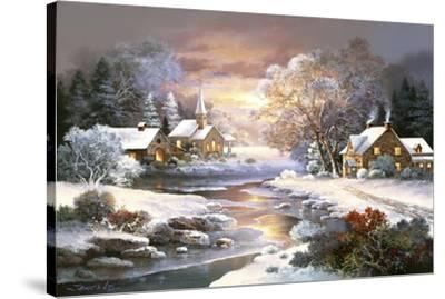 Winter Church-Alma Lee-Stretched Canvas Print