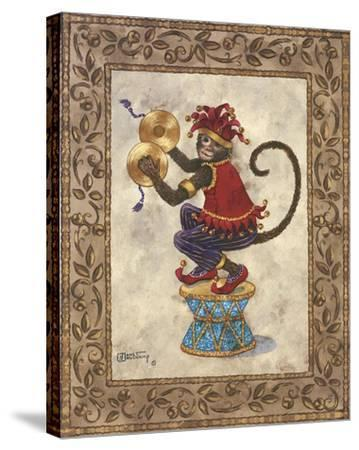 Monkey with Cymbals-Janet Kruskamp-Stretched Canvas Print