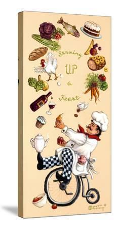 Serving Up A Feast-Janet Kruskamp-Stretched Canvas Print