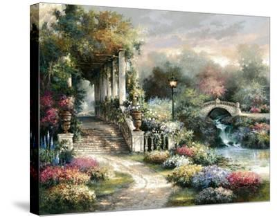 Classic Garden Retreat-James Lee-Stretched Canvas Print