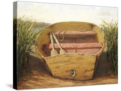 Beached Dinghy-Karl Soderlund-Stretched Canvas Print
