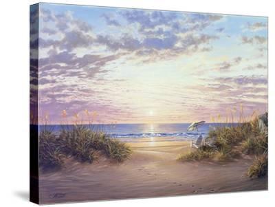 Paradise Dawn-Klaus Strubel-Stretched Canvas Print