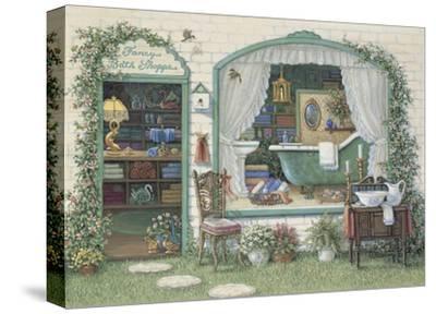 Fancy Bath Shoppe-Janet Kruskamp-Stretched Canvas Print