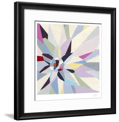 Geometric Dahlia I-Erica J^ Vess-Framed Limited Edition