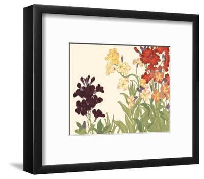 Small Japanese Flower Garden I-Konan Tanigami-Framed Art Print