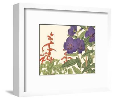 Small Japanese Flower Garden VI-Konan Tanigami-Framed Art Print