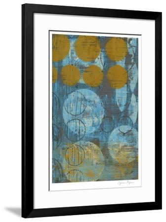 Textured Circles I-Jennifer Goldberger-Framed Limited Edition