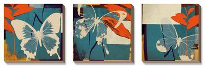 Butterflies Viola-Noah Li-Leger-Framed Canvas Art Set