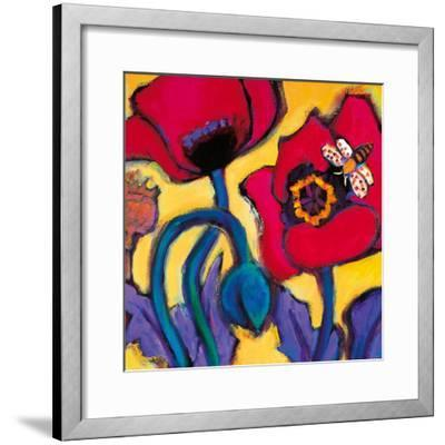 Red Poppies-Gerry Baptist-Framed Giclee Print