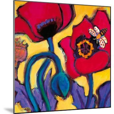 Red Poppies-Gerry Baptist-Mounted Giclee Print