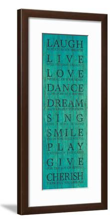 Live Your Life III-The Vintage Collection-Framed Giclee Print