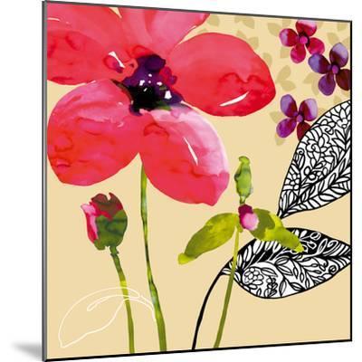 Fun Flowers I-Sandra Jacobs-Mounted Giclee Print