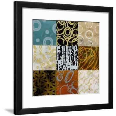 Time In Graphic I-Bridges-Framed Giclee Print
