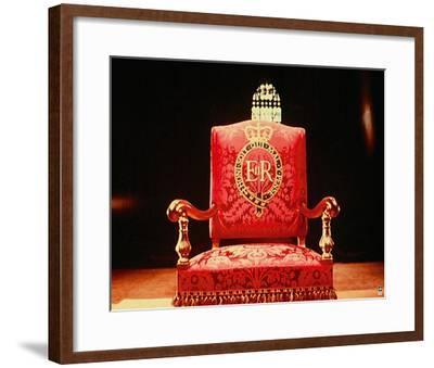 Coronation Throne, 1953-British Pathe-Framed Giclee Print