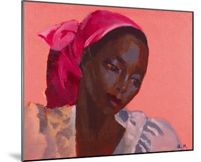 Lady in a Pink Headtie, 1995-Boscoe Holder-Mounted Giclee Print