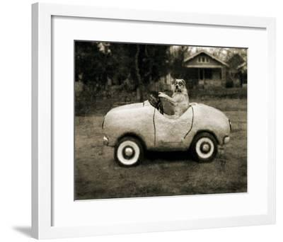 Ollie In His Car-Pete Kelly-Framed Giclee Print