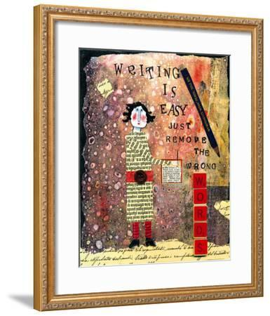 Writing is Easy-Barbara Olsen-Framed Giclee Print