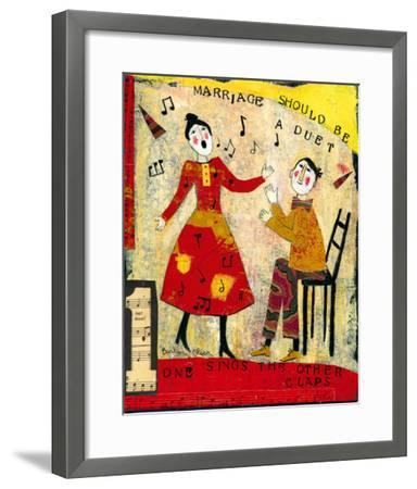 Marriage Should Be A Duet-Barbara Olsen-Framed Giclee Print