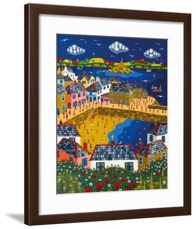 Summer at Mousehole-Brian Pollard-Framed Giclee Print