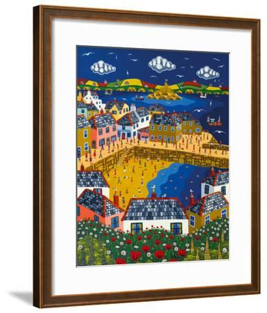 Summer at Mousehole-Brian Pollard-Framed Giclee Print