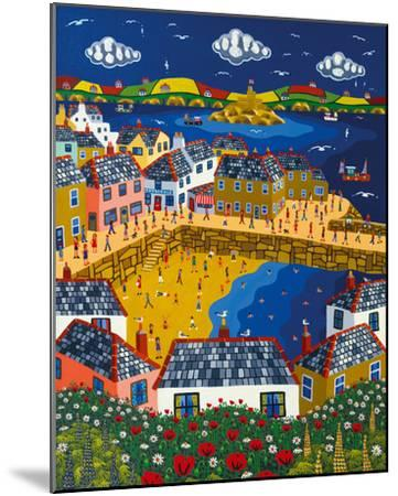 Summer at Mousehole-Brian Pollard-Mounted Giclee Print