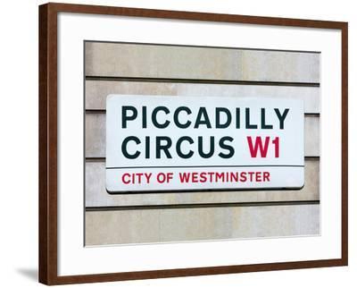 Piccadilly Circus-Joseph Eta-Framed Giclee Print