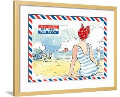 Par Avion I-Claire Fletcher-Framed Giclee Print