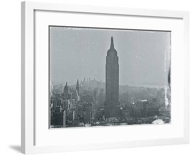 New York City In Winter VII-British Pathe-Framed Giclee Print
