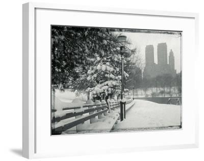 New York City In Winter VIII-British Pathe-Framed Giclee Print