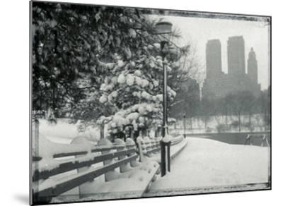 New York City In Winter VIII-British Pathe-Mounted Giclee Print