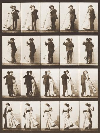 The Waltz-Eadweard Muybridge-Giclee Print