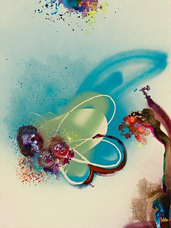 Floral Mist III-Leila-Framed Giclee Print
