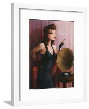 Grammophone-Misstigri-Framed Art Print