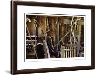 Historic Farm Tools-Donald Paulson-Framed Giclee Print