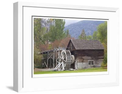Historic Grist Mill-Donald Paulson-Framed Giclee Print