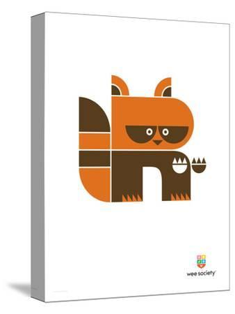 Wee Alphas, Riley the Raccoon-Wee Society-Stretched Canvas Print