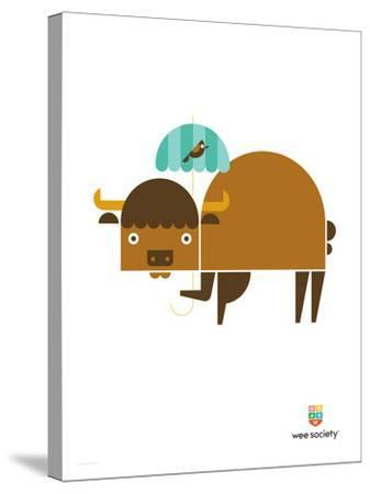 Wee Alphas, Biki the Buffalo-Wee Society-Stretched Canvas Print