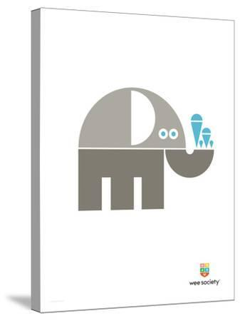 Wee Alphas, Eli the Elephant-Wee Society-Stretched Canvas Print