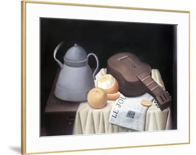 Still Life with Newspaper-Fernando Botero-Framed Collectable Print