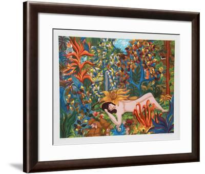 Lion and Woman-Ivel Weihmiller-Framed Collectable Print