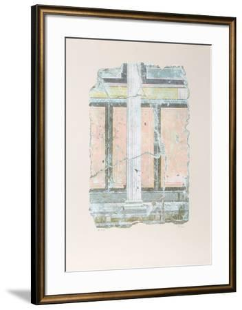 Yellow Fragment With Column I-Peter Saari-Framed Collectable Print