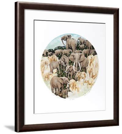 Elephant Composition-Caroline Schultz-Framed Limited Edition