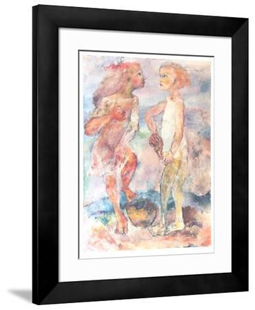 Beach Combers-Sabina Teichman-Framed Collectable Print