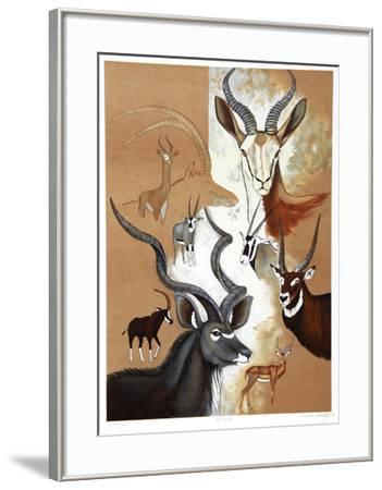Antelope Composition-Caroline Schultz-Framed Collectable Print