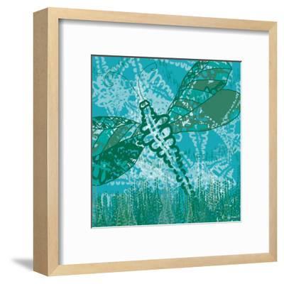Dragonfly Field 2-Lorraine Rossi-Framed Art Print