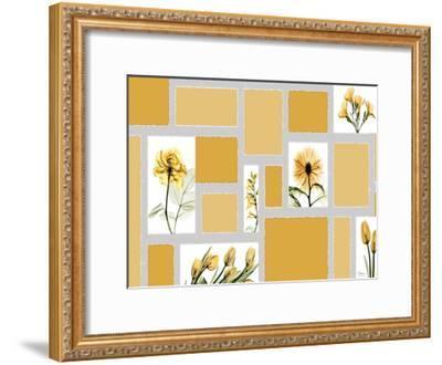 Mondrian Flowers-Albert Koetsier-Framed Art Print